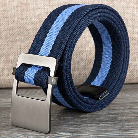 Ladies Women Unisex Canvas Belt Waist Strap Female 110cm-130cm Casual Style Chromatic stripe Men Women Belt For Jeans