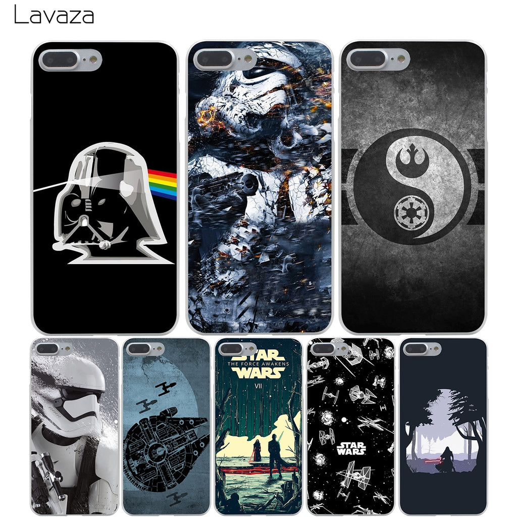 Lavaza Star Wars Hard Transparent Cover Case for iPhone X 10 8 7 6 ...