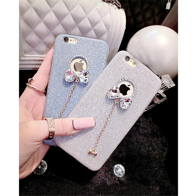 huge discount d6dd1 1c6c9 Luxury Gold Bling Glitter Plating Diamond Phone Case For iPhone 7 6 6S Plus  5s SE Back Cover iPhone 6 6S Plus 7 Soft TPU Case