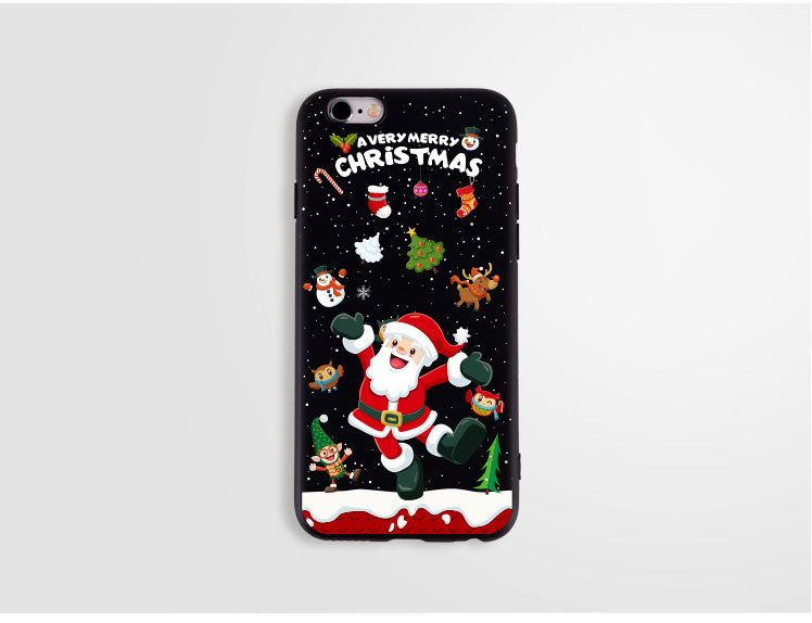 merry christmas case for iphone 7 8 6 6s plus 7plus soft silicone christmas lips macaron