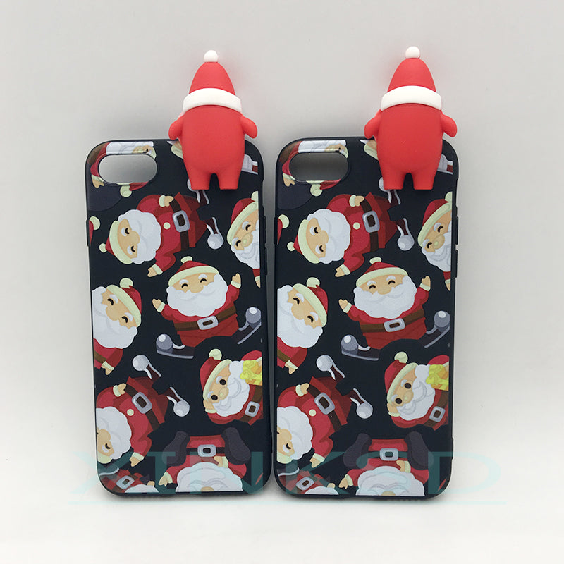 ec5a32cfd77288 Merry Christmas Tree Santa Claus Gift Happy New Year Phone Cases Back Cover  Cartoon Silicone for ...