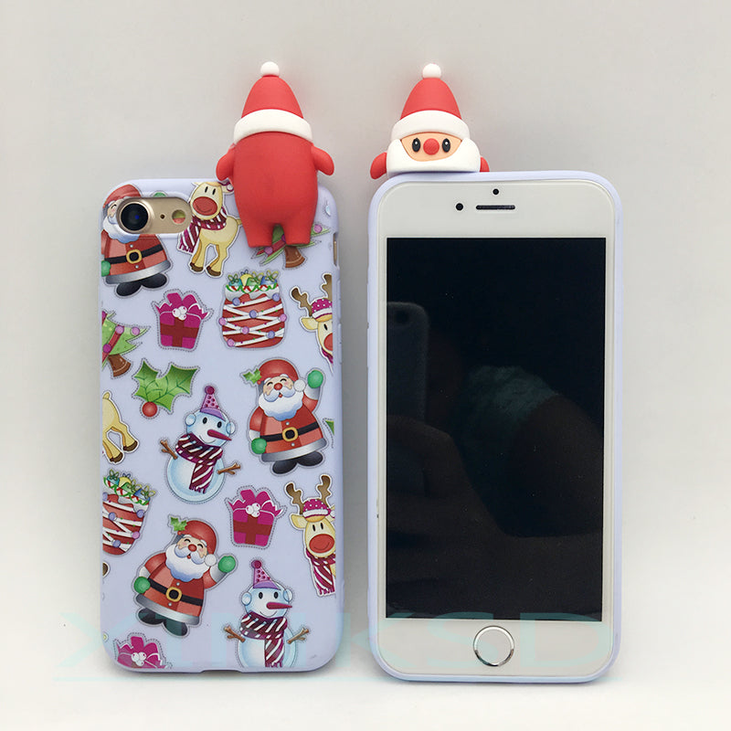 9e50e4ec3763d6 ... Merry Christmas Tree Santa Claus Gift Happy New Year Phone Cases Back  Cover Cartoon Silicone for ...