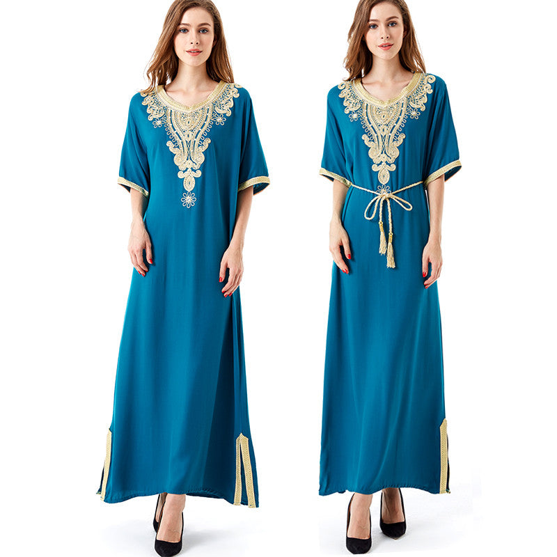 e040c033f92 Muslim women Long sleeve Tunic Dress maxi abaya islamic women vintage dress  clothing robe kaftan caftan ...