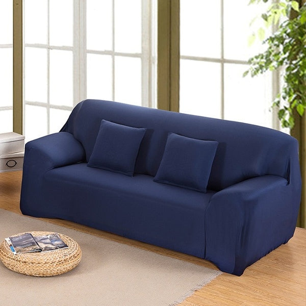 Navy Blue All-inclusive Full Sofa Cover Slip Cover Stretch Fabric Sofa Cover Elastic Cover Single/Two/Three/Four-Seat