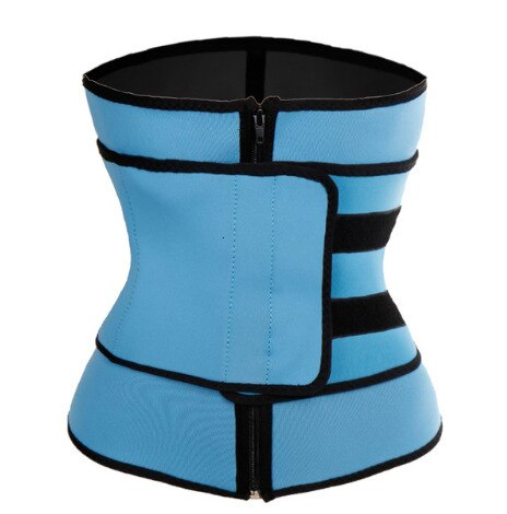 Neoprene Sauna Sweat Waist Trainer Zipper Corsets Body Shaper Abdominal Fitness Slimming Belt Tummy Trimmer Shapewear Women Men