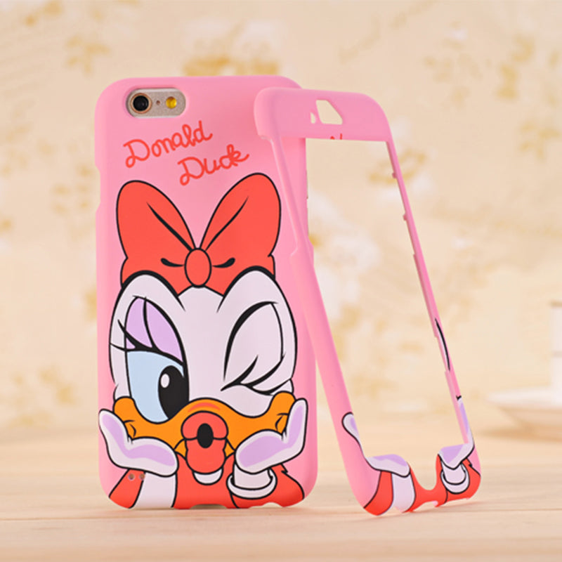 best loved fa696 2a2de Nephy Mickey Minnie Mouse Stitch 360 Degree Cartoon Design Coque For iPhone  7 7Plus Case Hard Back Cover For apple iPhone7 Plus
