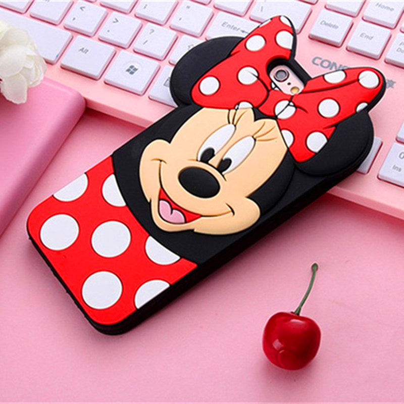 check out 007e3 02046 New 3D Cute Mickey Minnie Mouse Cartoon Soft Silicone Phone Case For iPhone  8Plus 7 7Plus 4 4S 5 5 5S 6 6S Plus Rubbe Back Cover