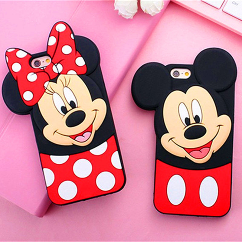 check out e5189 5299e New 3D Cute Mickey Minnie Mouse Cartoon Soft Silicone Phone Case For iPhone  8Plus 7 7Plus 4 4S 5 5 5S 6 6S Plus Rubbe Back Cover
