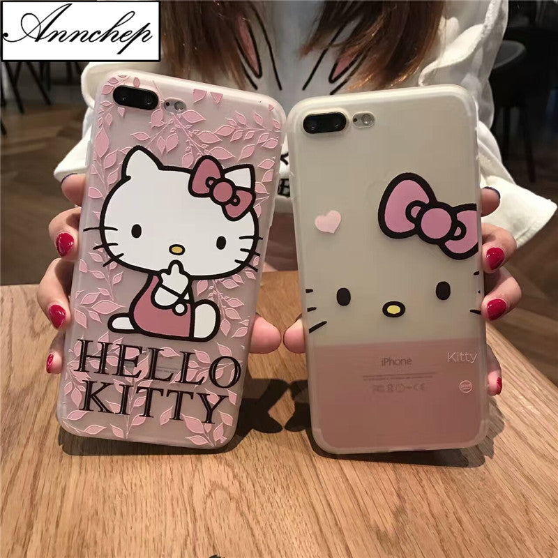 New Cute Cartoon Hello kitty soft cover case for iphone 6s 6 Plus ...