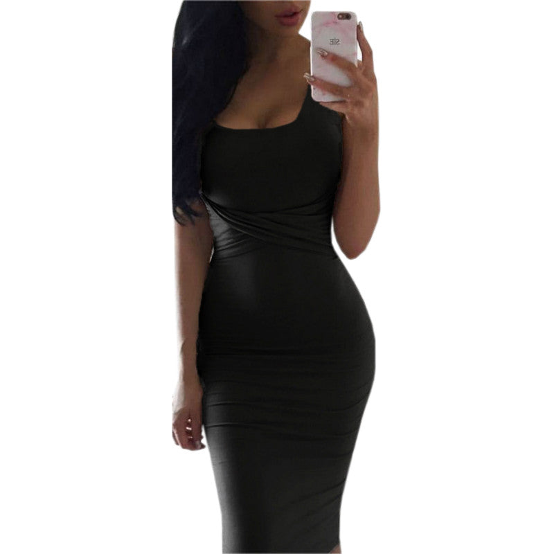 ... Office Dresses Women Summer Dress Scoop Collar Sleeveless Tight Dresses  Clubwear Party Dresses Vestidos De Festa ... a0be4e7a4