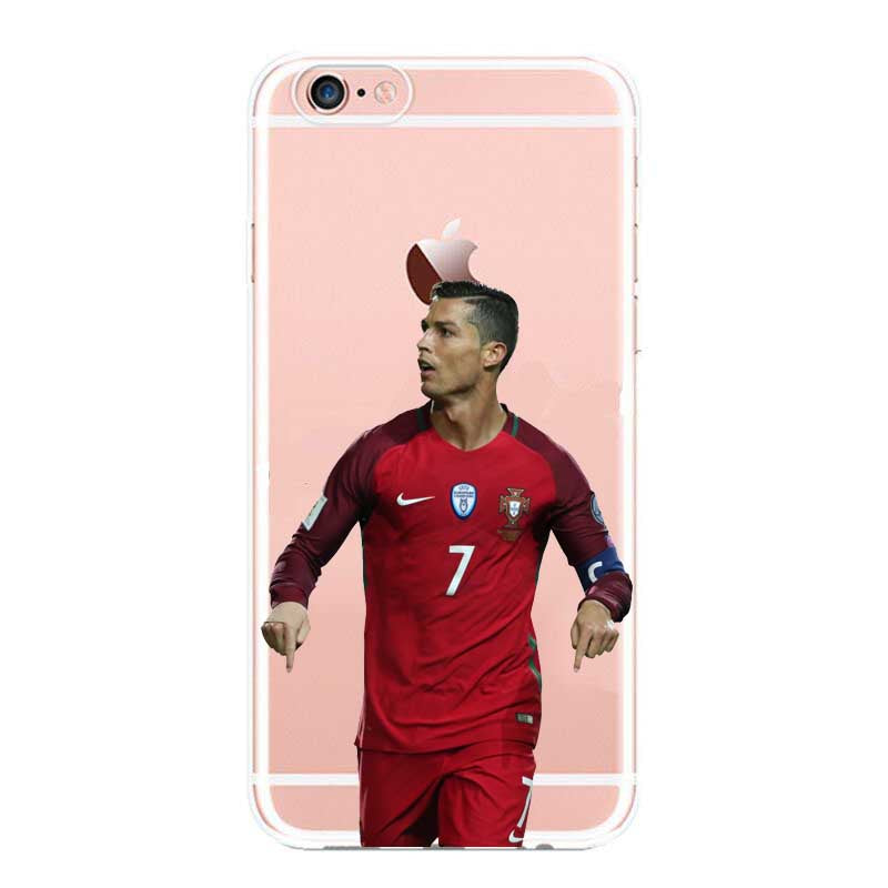 Real Madrid Cristiano Ronaldo & Lionel Messi Phone Cases For iPhone 5 5C SE  6 6plus 7 Hard plastic Cover