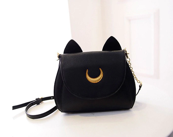 Summer Limited Sailor Moon Bag Black White Cat Luna Moon Women Messenger Crossbody Bag