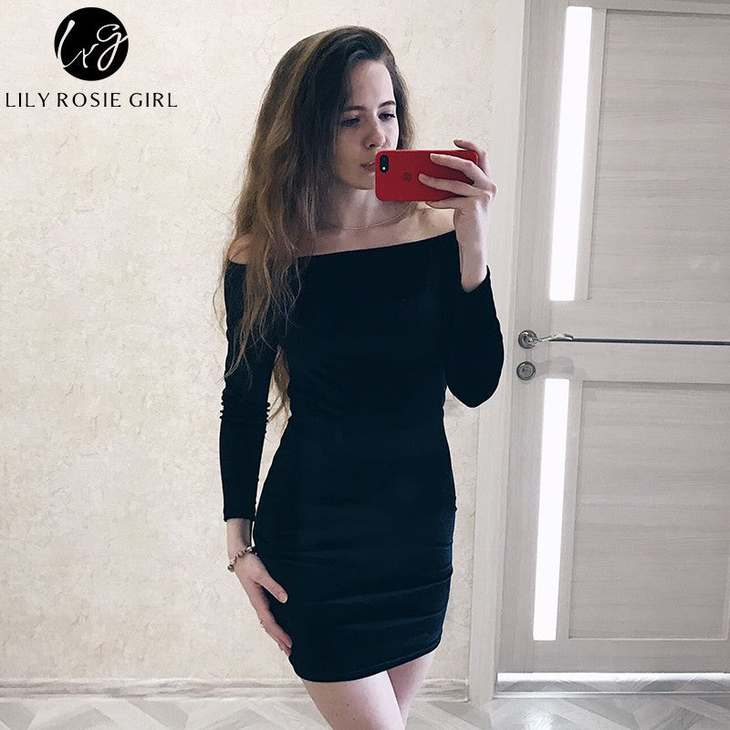 966b730a9b23 ... Sexy Off Shoulder Wine Red Sheath Velvet Dress Women Winter Party Long  Sleeve 2016 Elegant Pencil ...