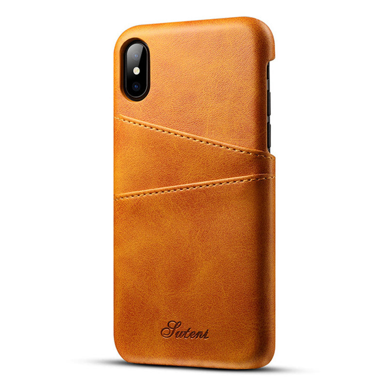 reputable site 76b94 d6f1e Slim PU Leather case for iPhone X case Back Cover Protective Card Holder  Wallet mobile Phone Bag for iPhone X Case