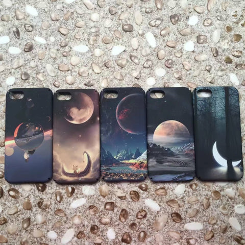 Space planet Moon case for iphone 6 6plus Matte Hard PC Case for iphone 6s 6splus 7 7Plus phone back cover