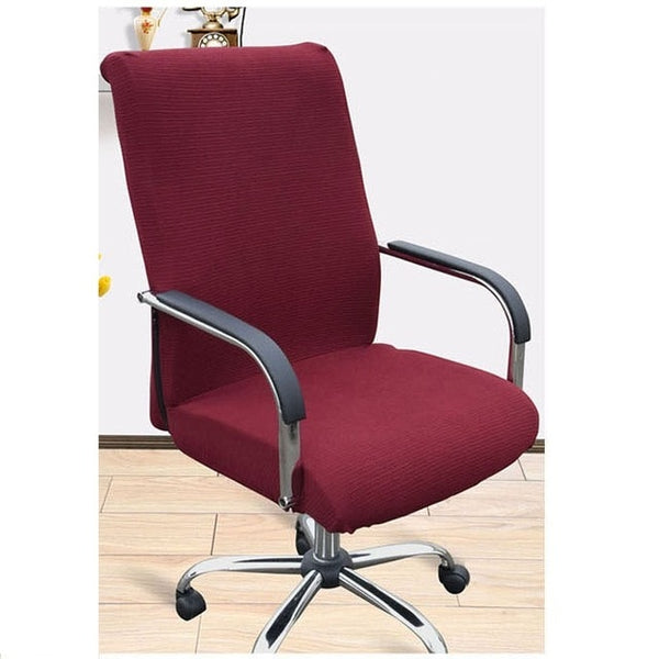 Spandex Stretch Office Computer Chair Cover Side Zipper Design Armchair Covers Recouvre Chaise Stretch Rotating Lift Chair Cover