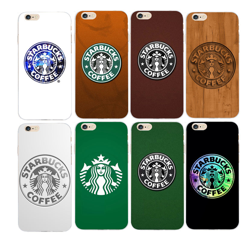 Starbucks coffee Pattern TPU Transparent Phone cases For iPhone 5S ...