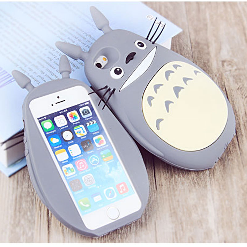 save off f9e17 a8ab8 TIANSTON For iPhone 7 7plus Cases 3D Silicone Totoro Case Cartoon back  cover ultra soft funda Lovely Funny Case for apple 7 plus