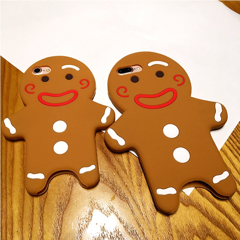 tengocase 3d cute christmas gingerbread man soft silicon case for iphone 6 7 8 plus cartoon