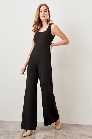 Trendyol Black Basic Jumpsuits with Trumpet Pants TWOSS19BY0020
