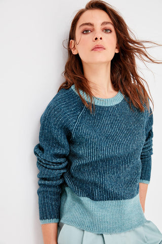Trendyol Mint Collar Detailed Knitwear Sweater TWOAW20NK0013