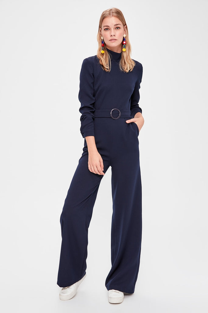 Trendyol Navy Arched Jumpsuit TWOAW20TU0072