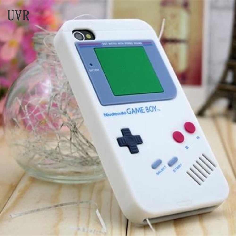 check out 8d6a9 3cd39 UVR Cover For Iphone 6 Case Gameboy Phone TPU Case For iPhone5 Cover 5 s SE  7 Plus 6s Retro Soft Silicone Back Cover Cases