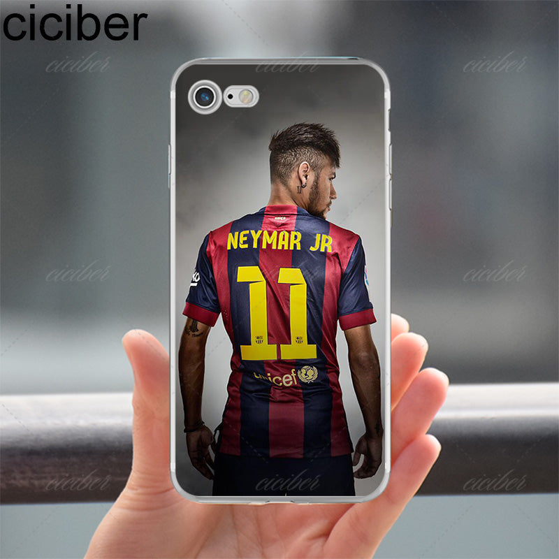 57d4c069c ... ciciber Neymar Messi Football Soccer Soft Silicon Phone cases cover For iPhone  6 6S 7 8 ...