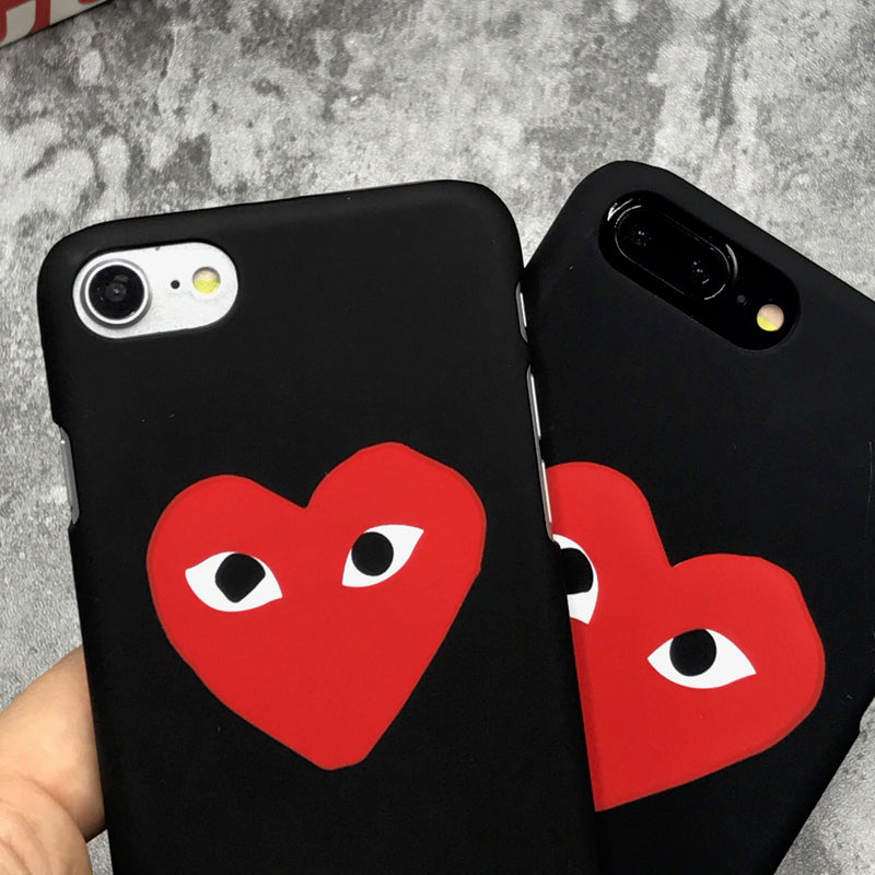 info for fdcda 764ff luxury famous brand CDG Play Matte Hard Protect Cases For iphone 5S SE 6s 6  7 8 Plus X Phone Cover coque case fundas
