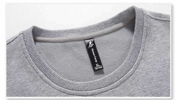 Autumn Winter Men Hoodies Casual 100% Cotton Thicken Fleece Male Pullover Mens Crewneck Sweatshirts