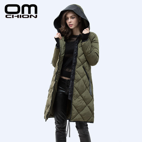 Autumn Winter Jacket Slim PU Leather Hooded Thick Down Cotton Padded Warm Parka Plus Size XXXL