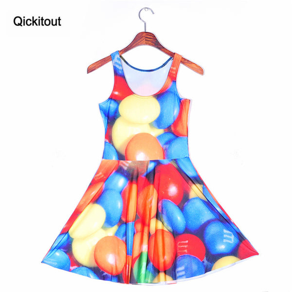 Halloween Women's Pumpkin Game Leaves Digital Print Sleeveless Beach Dress