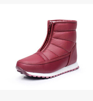 Autumn Winter Casual Snow Waterproof Women Ankle Boots Thermal Flat Slip Resistant