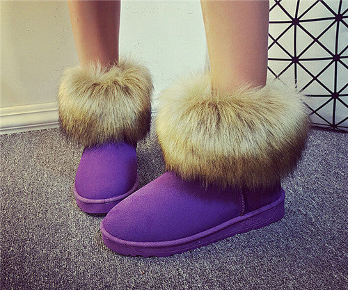 Winter Cotton Warm Snow Ankle Boots For Women