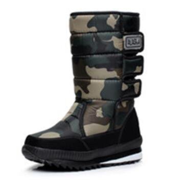 Winter Warm Men's Thickening Waterproof Military Desert Male Knee-high Snow Boots Outdoor Hunting