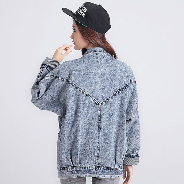 Oversized Denim Jacket Spring Jaqueta Jeans Women Coat Denim Jacket Retro Women Blue Jean Jackets