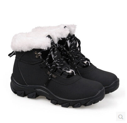 Genuine Leather Winter Warm Cotton-padded Snow Boots Casual