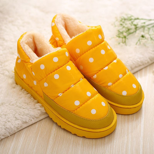 Plus Size 35-44 Men Women Winter Snow Warm Flat and Waterproof Ankle Boots