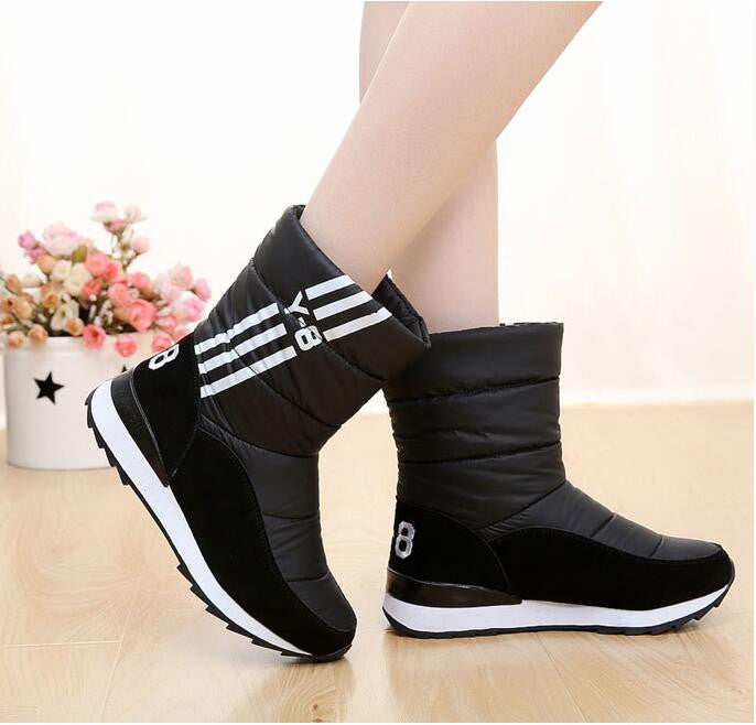 Women Winter Waterproof Medium Leg Snow Thermal Boots