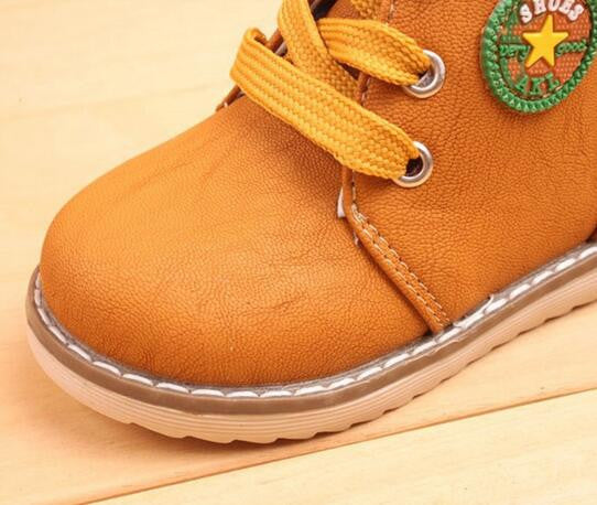 Spring Autumn Boys Girls Winter Kids Ankle Snow Boots Breathable Lace-Up Flats