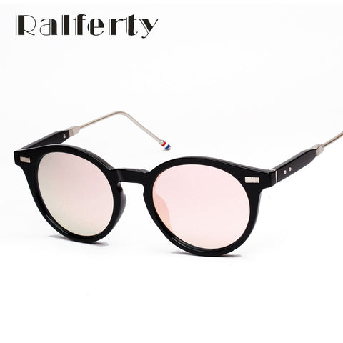 Trendy Vintage Sunglasses Women Mens UV400 Mirror Coating Sunglasses Retro Hipster Summer