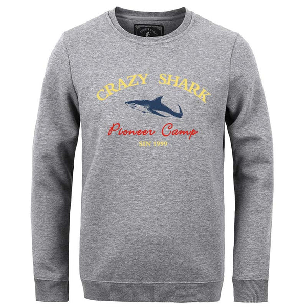Fleece Thicken Hoodies Men Warm 100% Cotton Casual Male Hoody Shark Men Sweatshirts XXXl