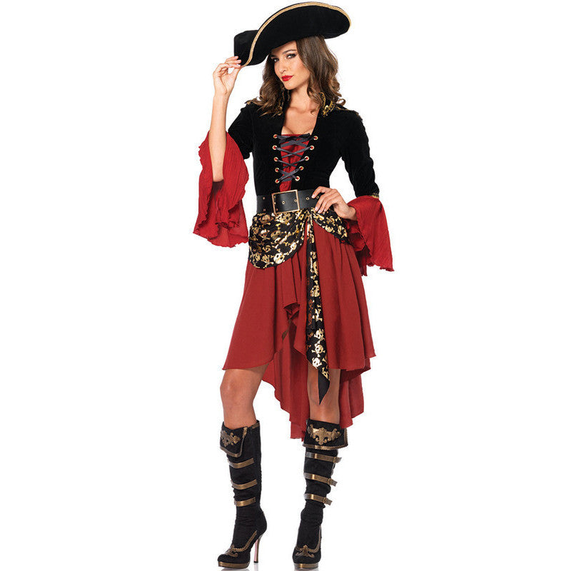 Caribbean Pirates Halloween Carnival Women Costumes