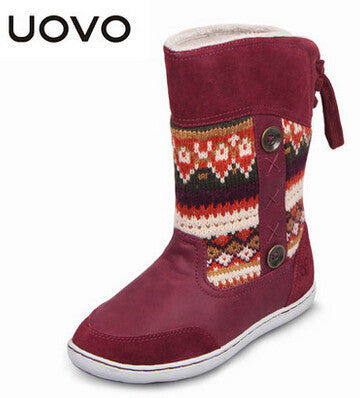Kids Boots For Girls And Boys Reindeer Christmas High Quality Winter Snow Boots