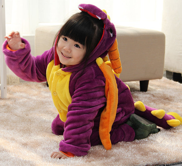 Children Unisex Anime Cute Animal Cosplay Halloween Costume Spyro Dragon