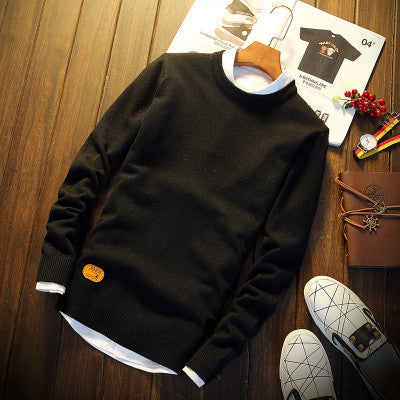 Autumn Winter Warm Sweater Men Knitted Cashmere Wool Pullover Casual O-Neck