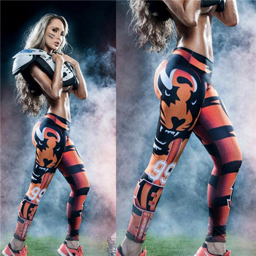 Adventure Time Fitness Sports Leggings Digital Printing Knitted Jeggings Workout Leggings