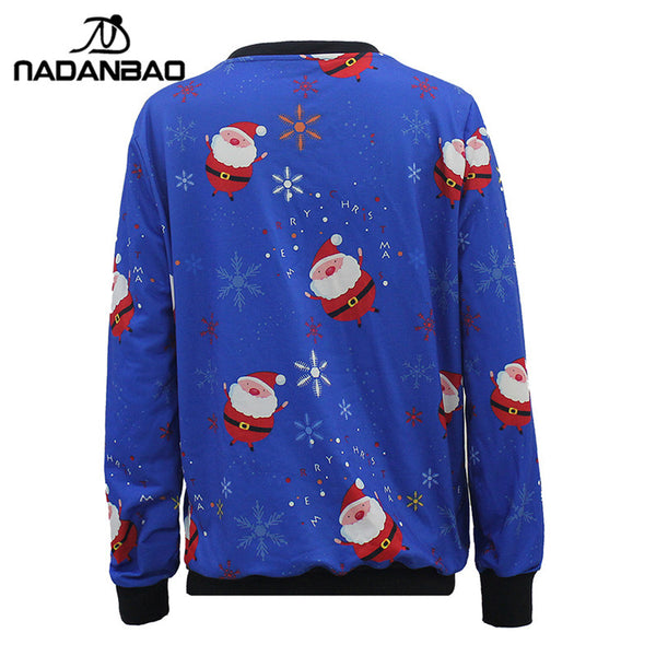 Sport Hoodies Sweatshirts Christmas Printed Women Tracksuit O-neck Long Sleeve