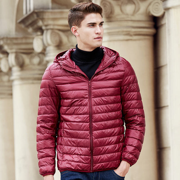 White Duck Down Jacket Men Brand Clothing High Quality Waterproof Male Parkas Plus Size Coat