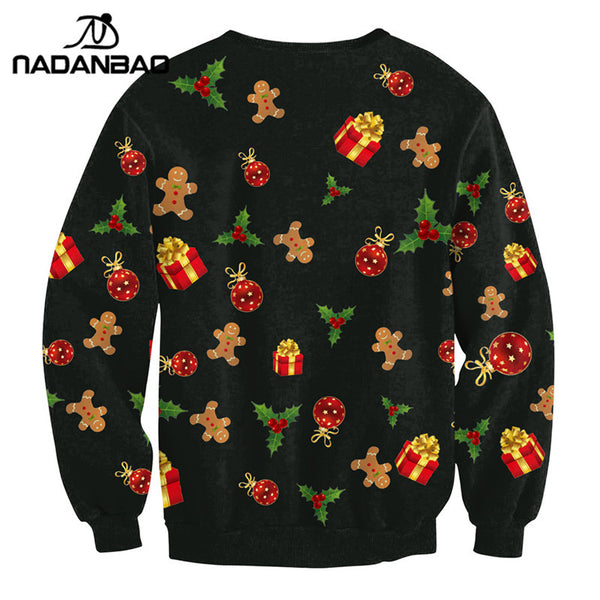 Autumn Winter Christmas Sweatshirts Long Sleeve Tracksuit Sports Hoodies Sweatshirt Women Clothing